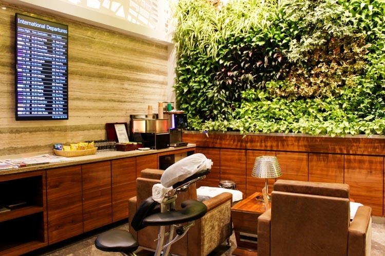 GVK Lounge Mumbai East Wing Massage Chair