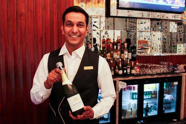 GVK Lounge Mumbai East Wing Champagne