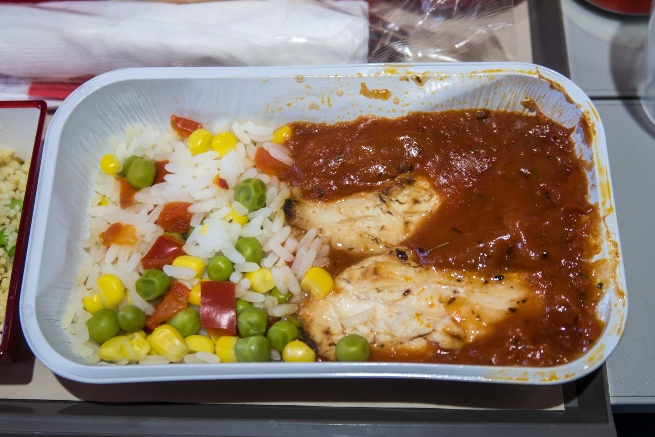 Chicken Dish on Iberia Flight to Tokyo