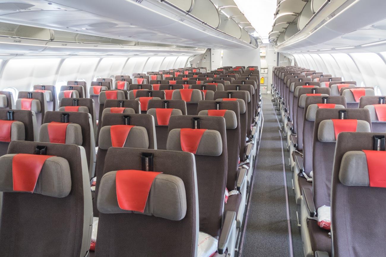 Iberia A330-200 Economy Class Cabin