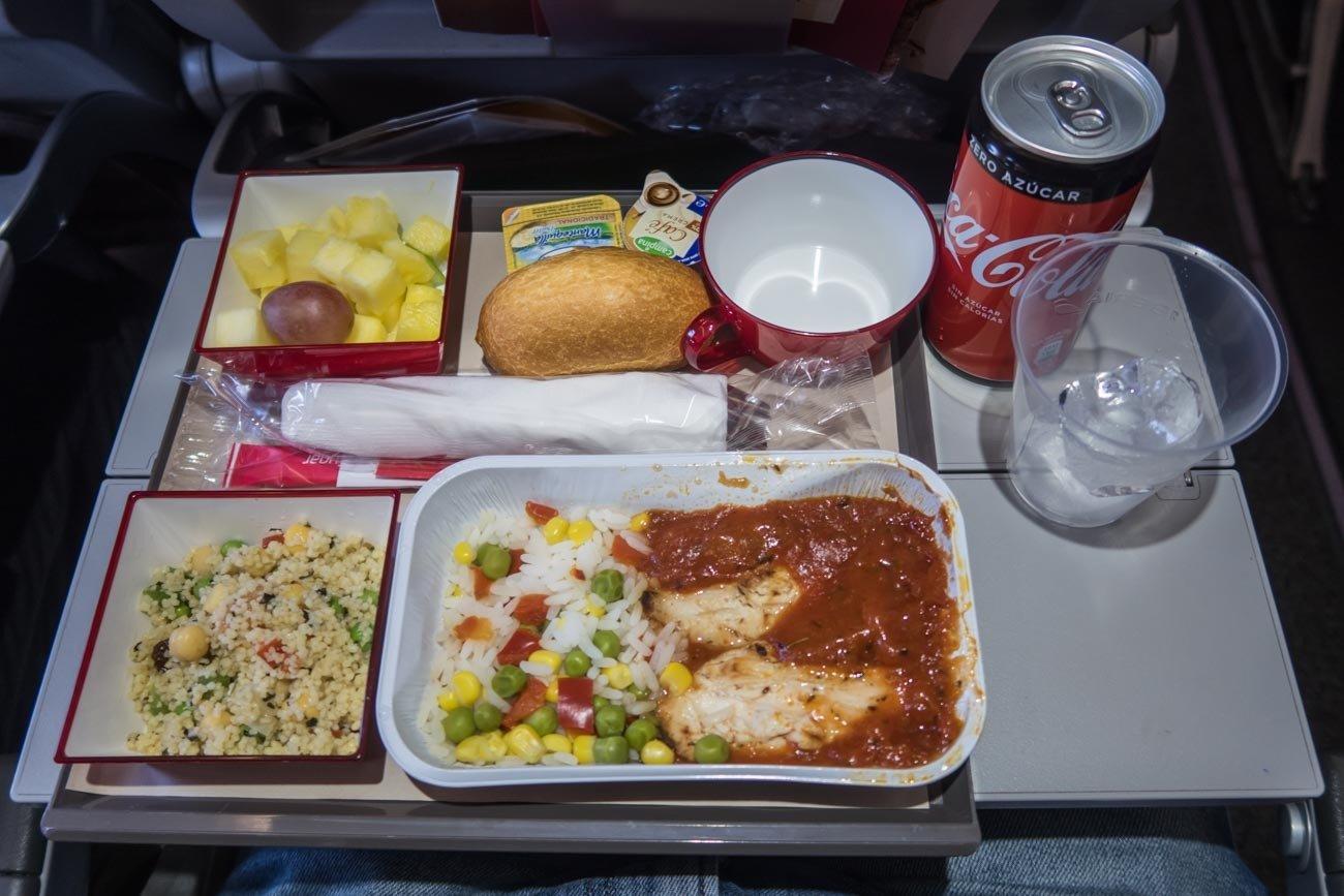 Iberia Economy Class Lunch