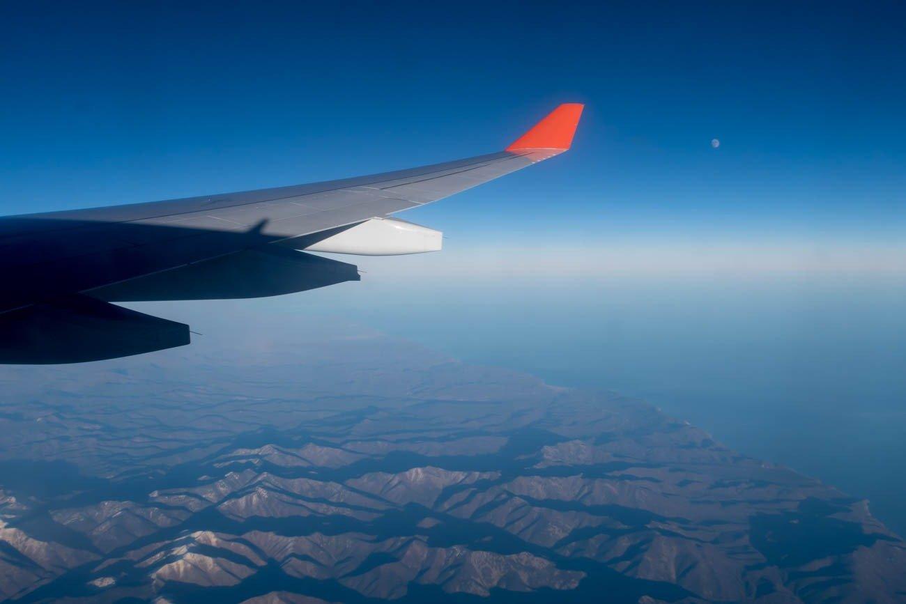 Aeroflot Flying Over Russia