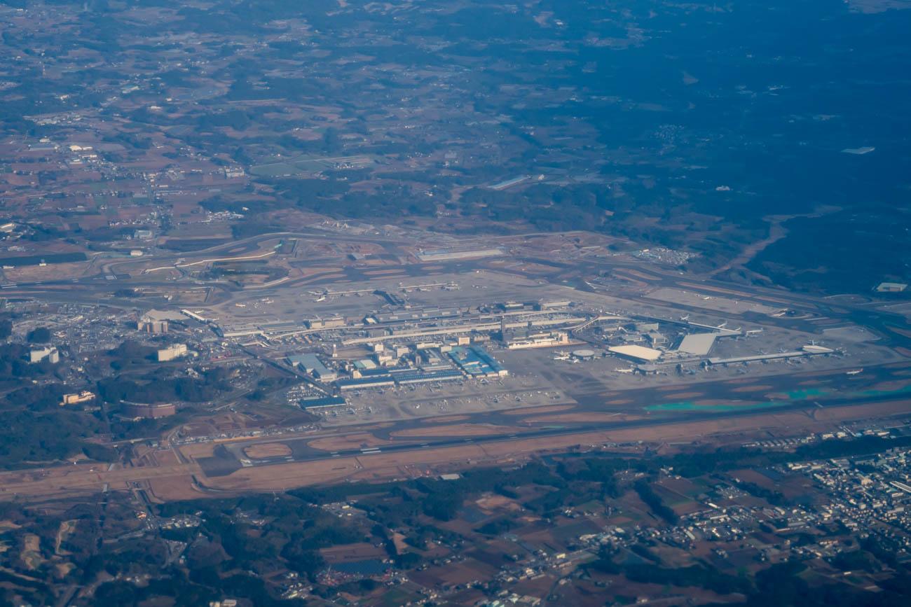 Tokyo Narita Airport from the Air