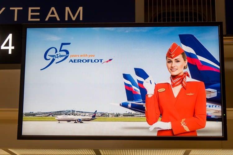 Aeroflot 95th Anniversary Screen
