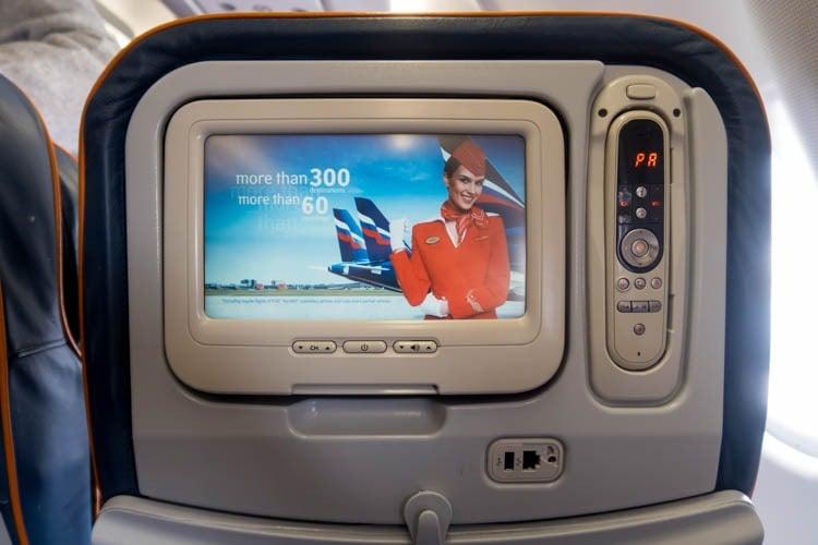 Aeroflot IFE Screen