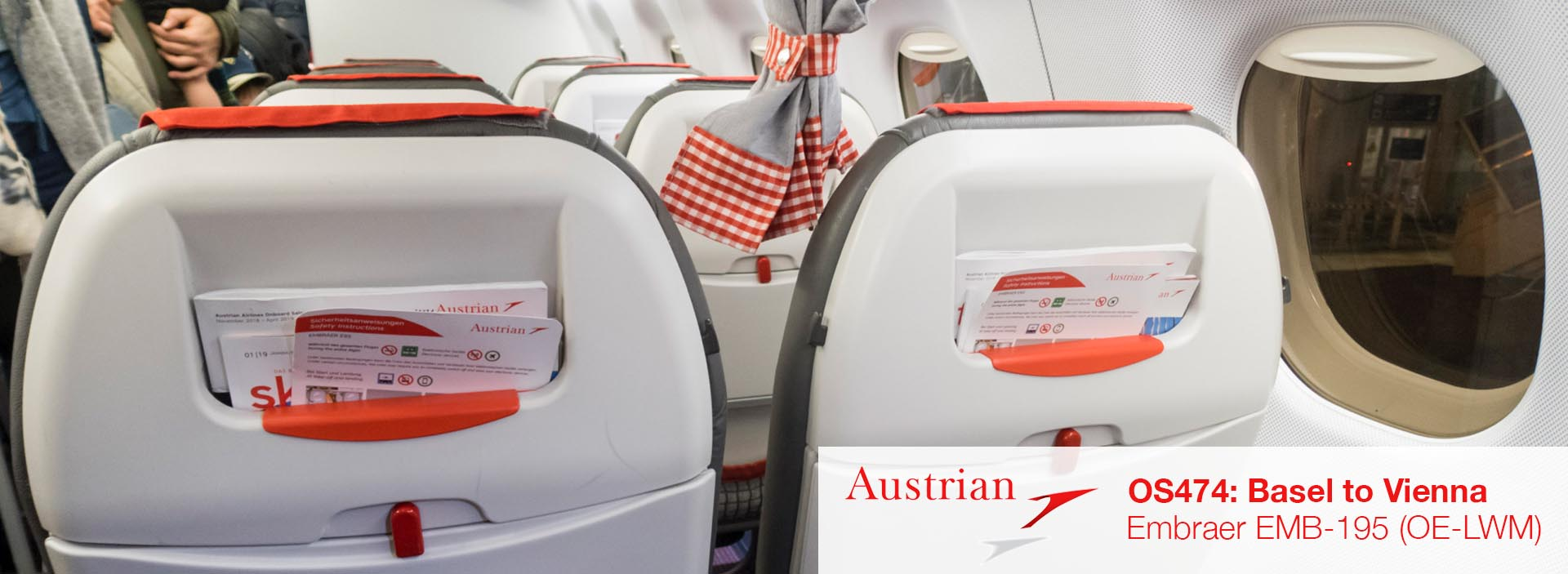 Review: Austrian Airlines EMB-195 Economy Class from Basel to Vienna