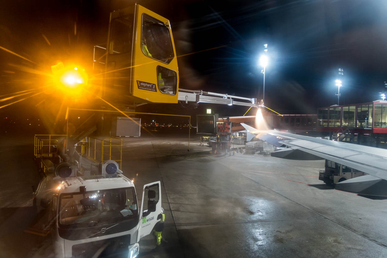 De-Icing Before Departure from Tegel Airport
