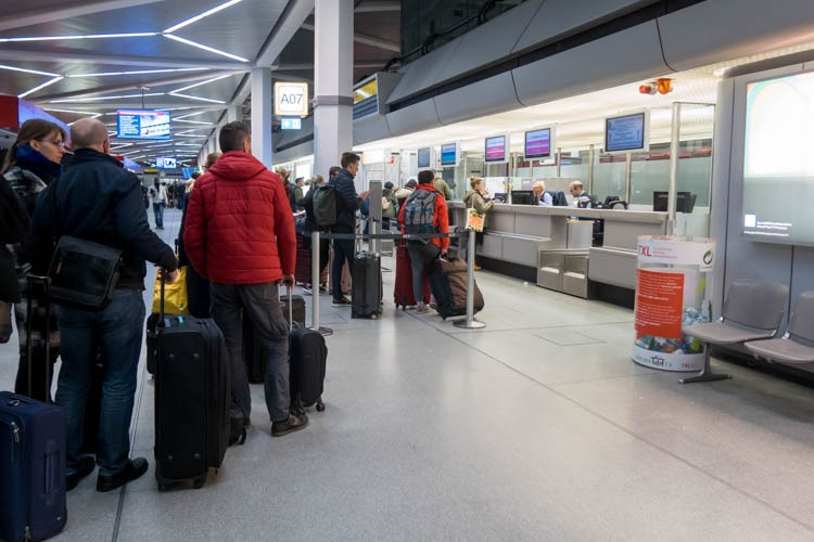 Brussels Airlines Check-in Desk at Berlin Tegel