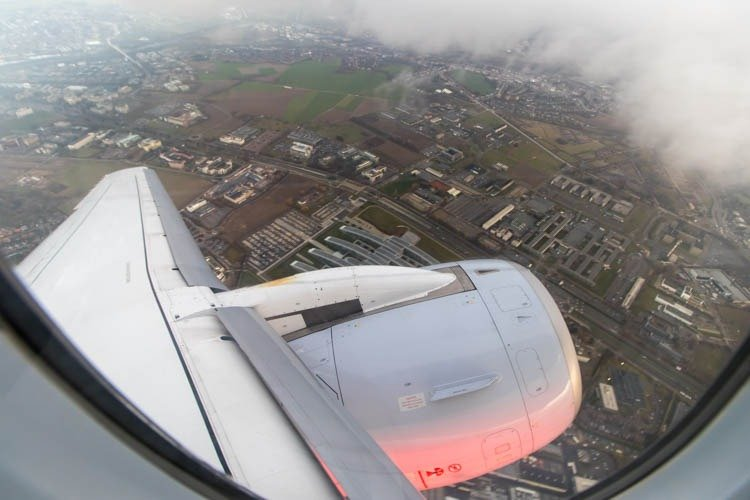 Brussels Airlines Sukhoi Superjet Wingview