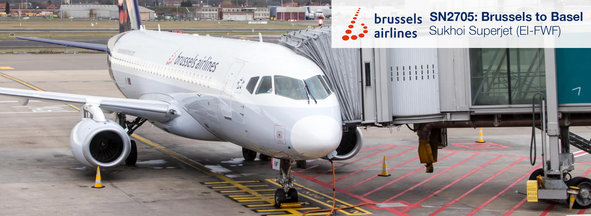 Review: Brussels Airlines (CityJet) Sukhoi Superjet from Brussels to Basel