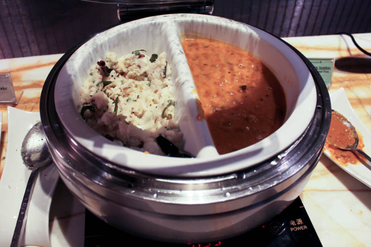 South Indian Breakfast in the Singapore Airlines SilverKris Loun