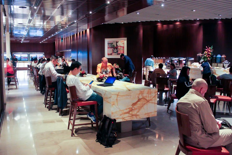 Singapore Airlines SilverKris Business Class Lounge Dining Area