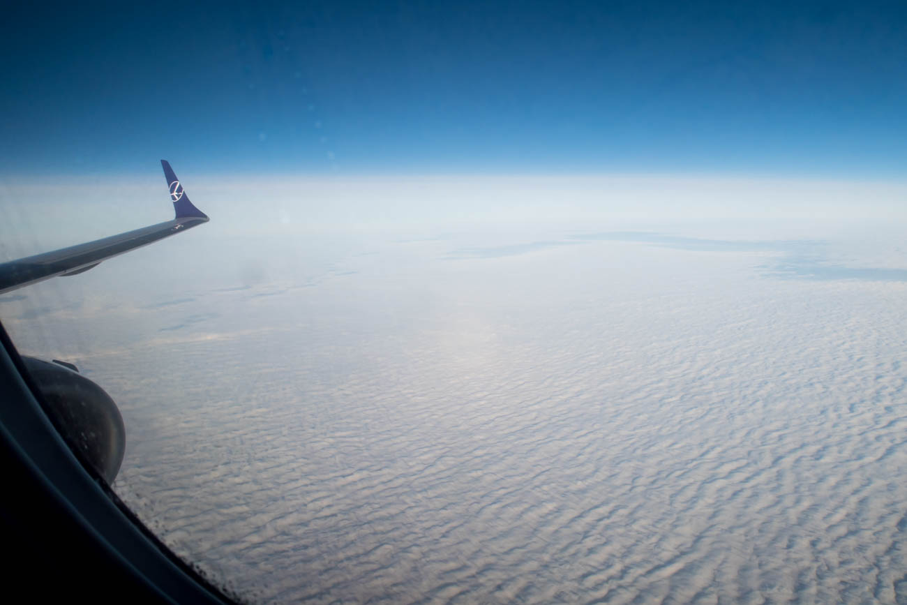 Flying on a LOT Polish Airlines Embraer EMB-195