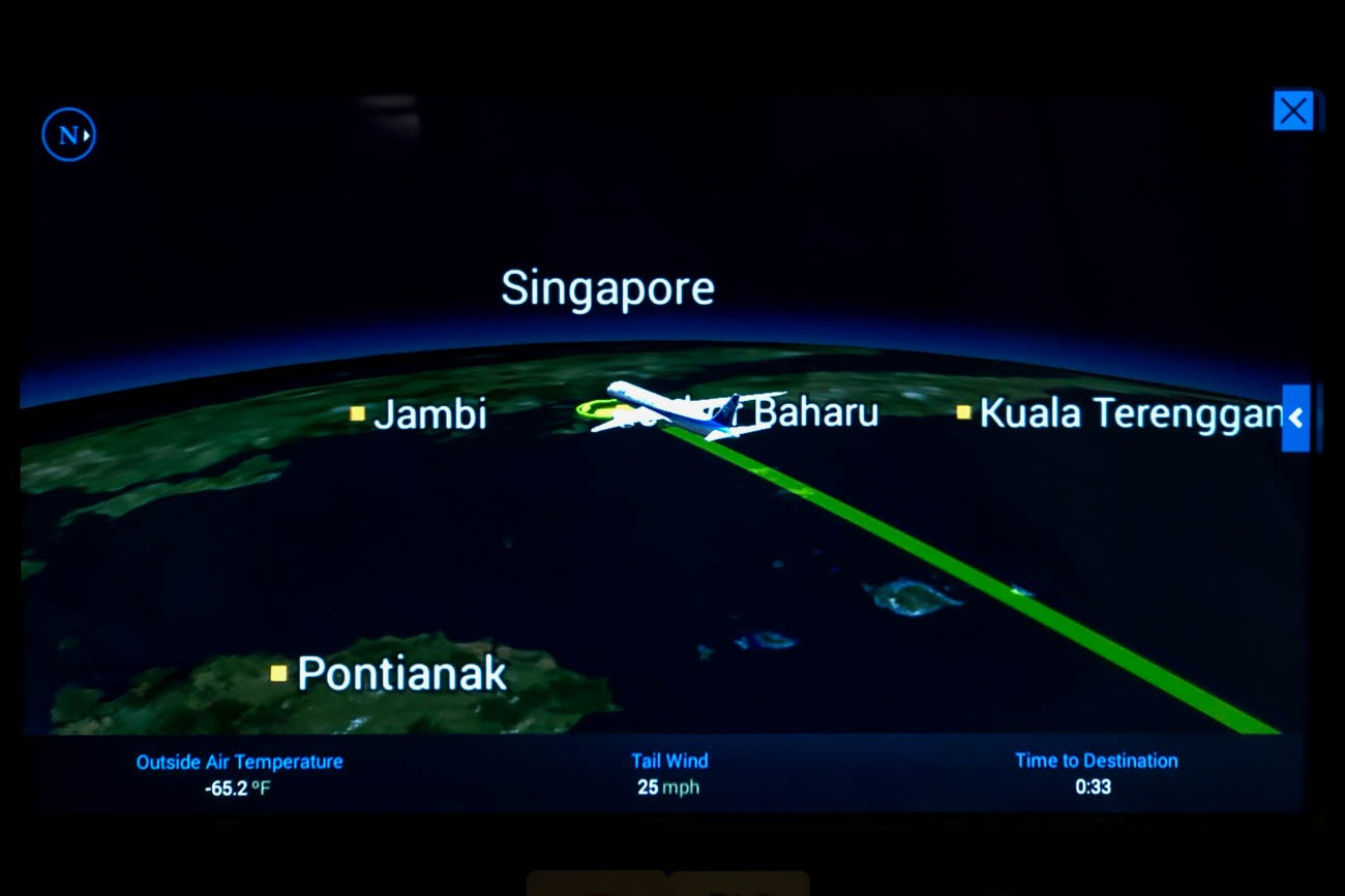 ANA Business Class Flight to Singapore