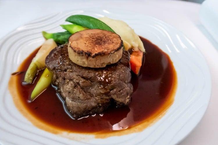 ANA Medium-Haul Business Class Dinner Beef Steak