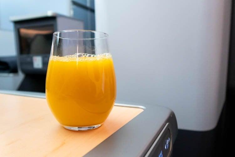 ANA Business Class Pre-Landing Drink