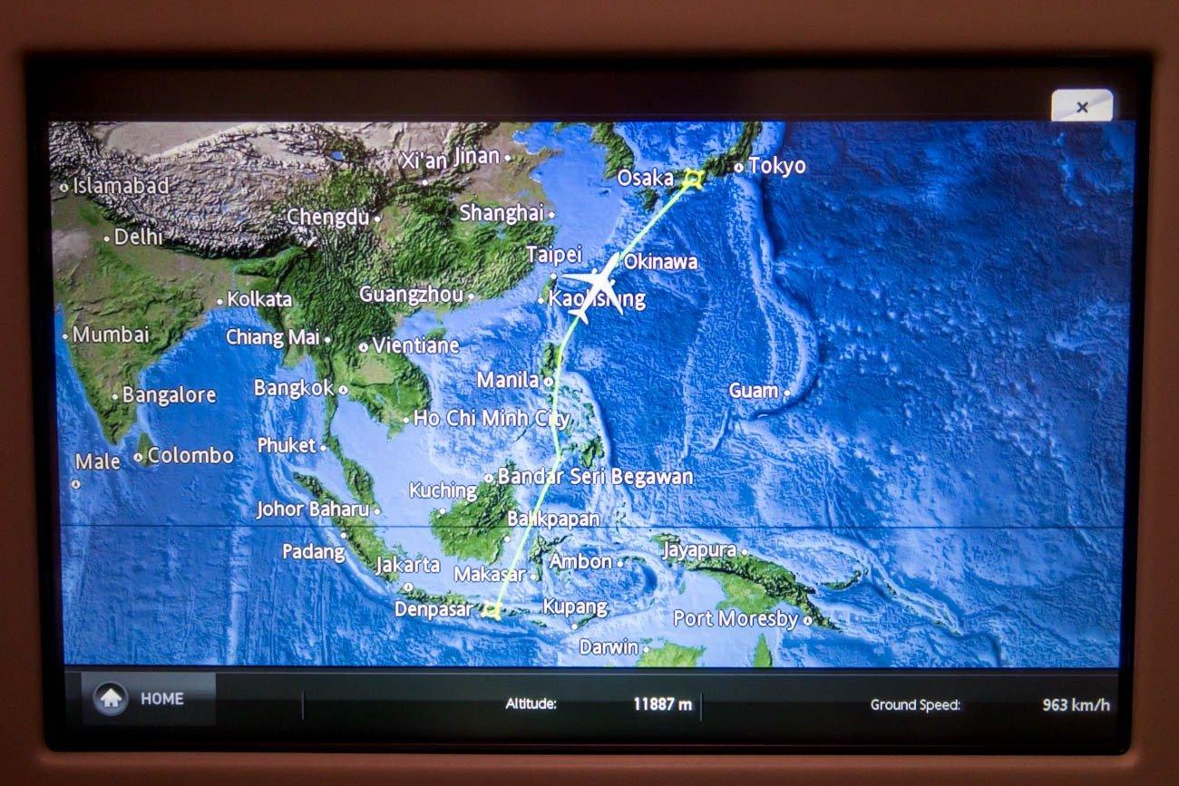 Garuda Indonesia A330 Approaching Japan