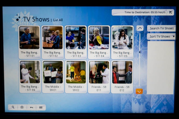 Garuda Indonesia In-Flight Entertainment System TV Shows