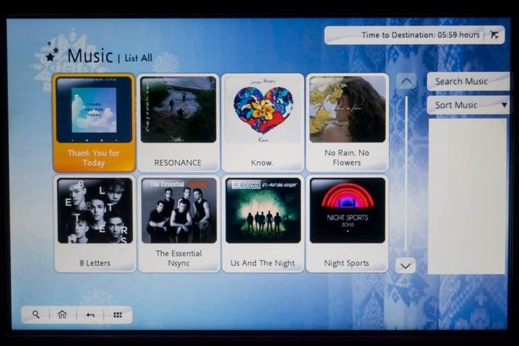 Garuda Indonesia In-Flight Entertainment System Music