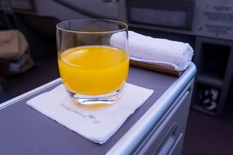 Garuda Indonesia Business Class Breakfast