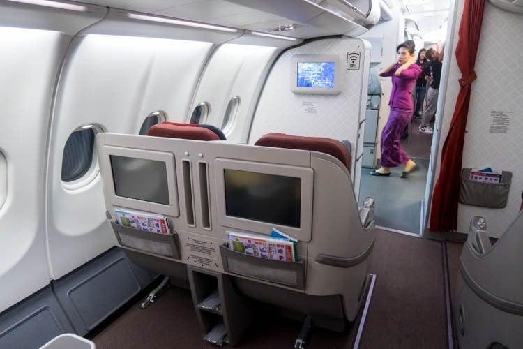 Garuda Indonesia Airbus A330-300 Business Class Cabin