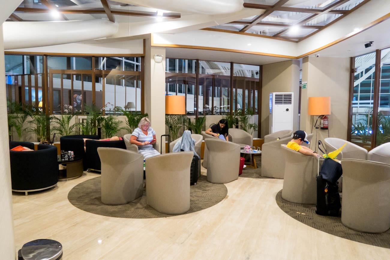 Garuda Indonesia Business Class Lounge Bali Seating