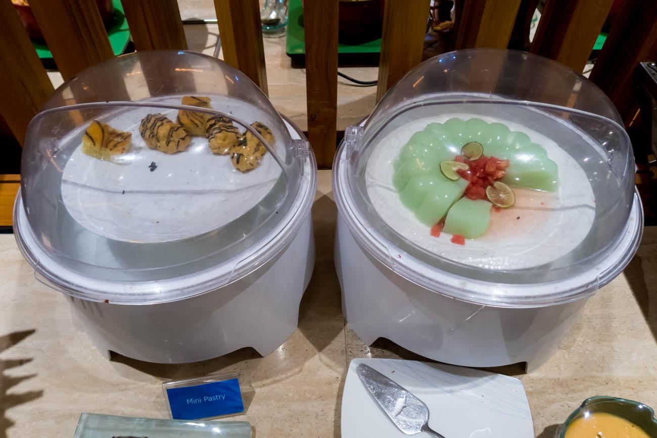 Garuda Indonesia Business Class Lounge Bali Desserts
