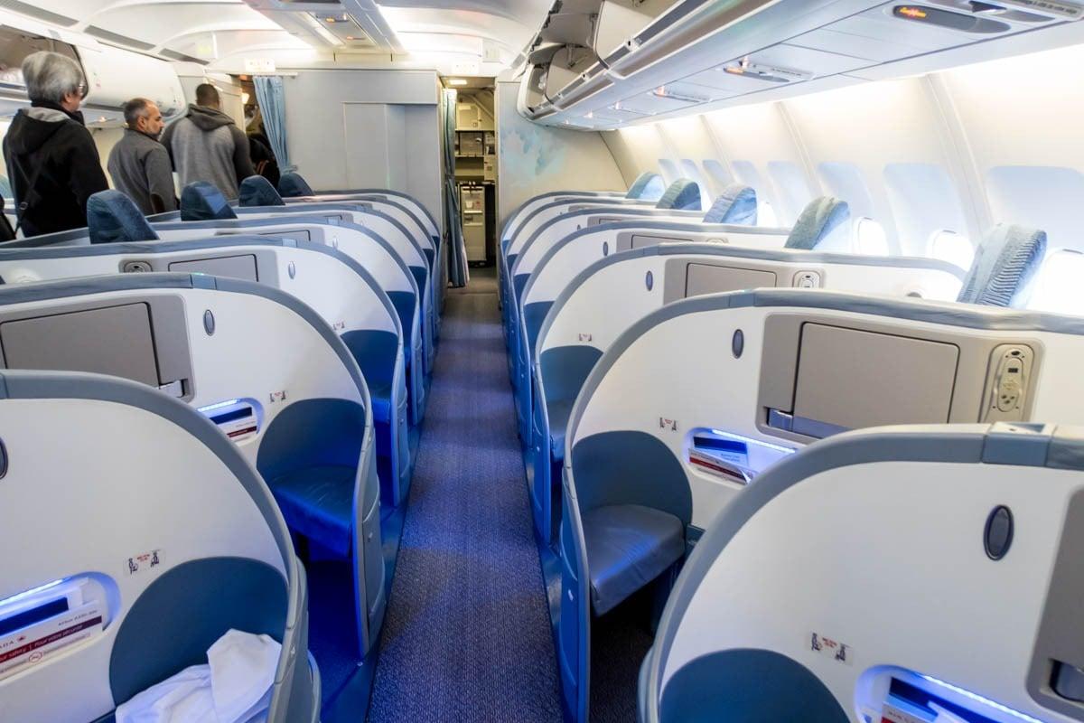 Air Canada A330 Business Class Herringbone Seats