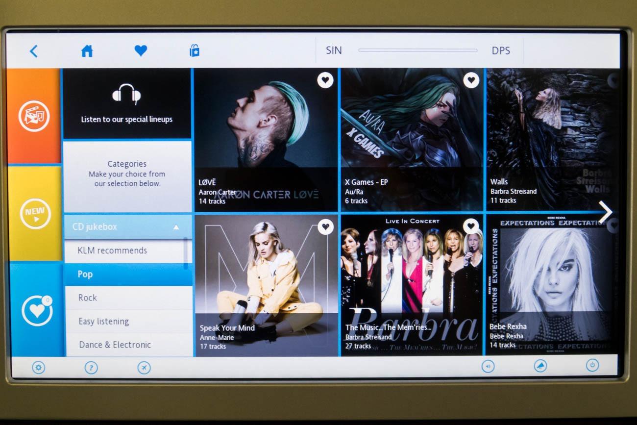 KLM In-Flight Entertainment System Music