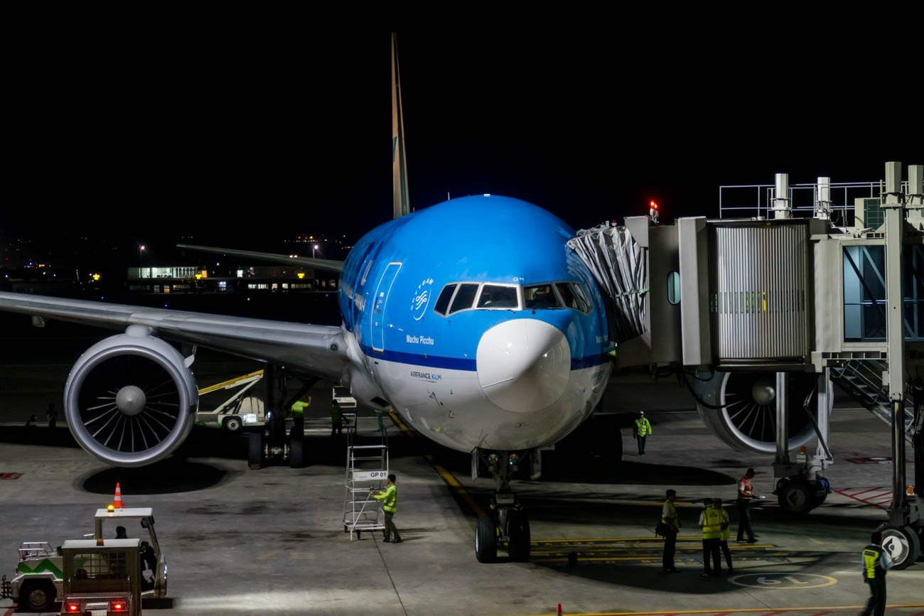 KLM Boeing 777-200ER at Bali Denpasar Airport
