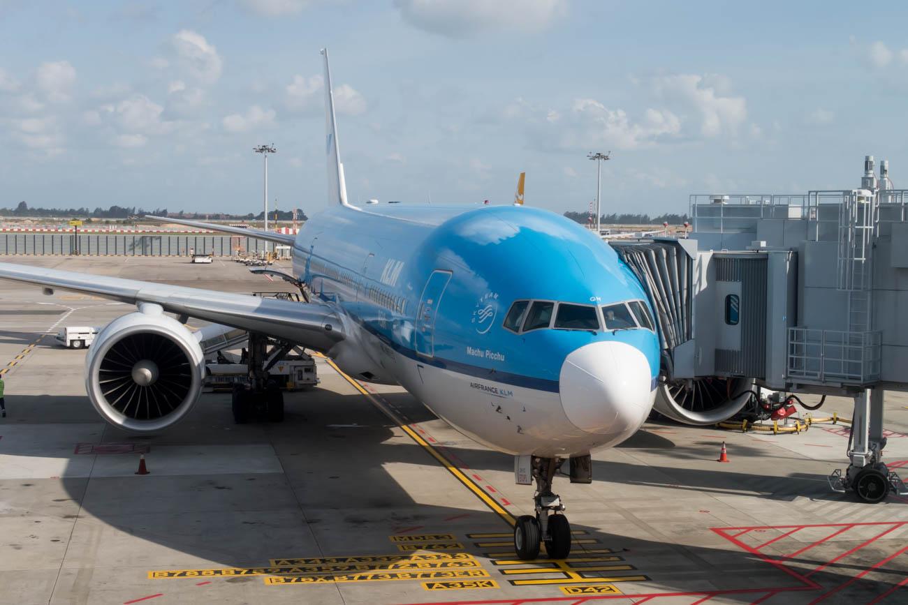 KLM Boeing 777-200ER at Singapore Changi Airport