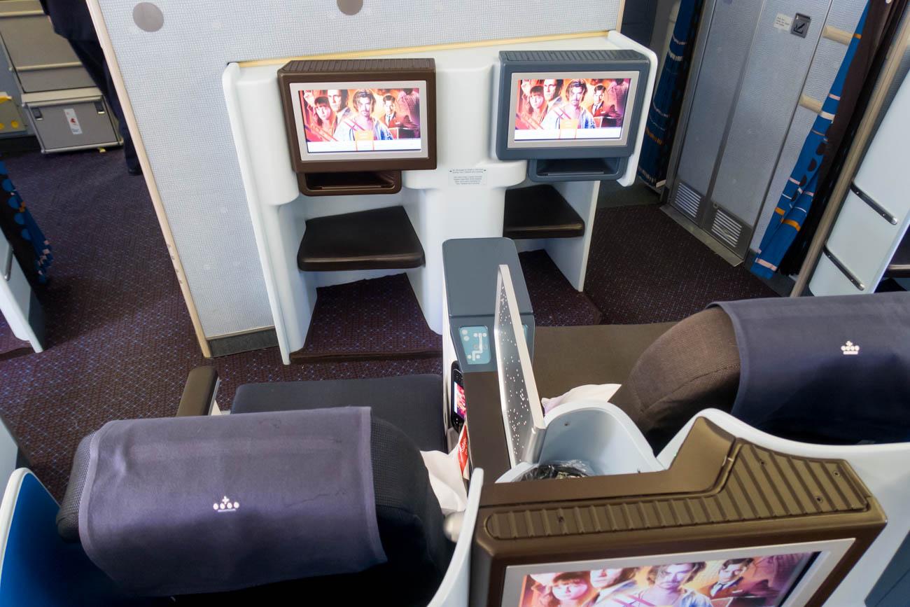 KLM Boeing 777-200ER Business Class Cabin Seats