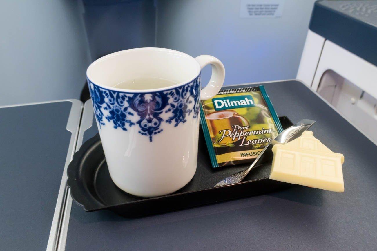 KLM Business Class Chocolate and Tea