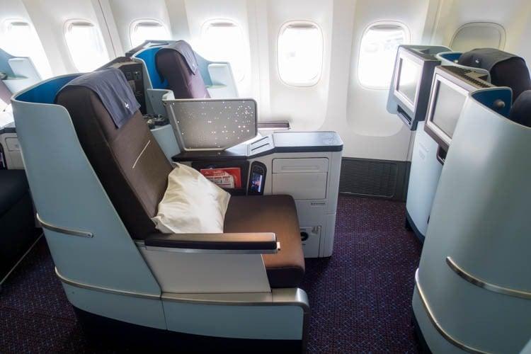 KLM Boeing 777-200ER Business Class Seats