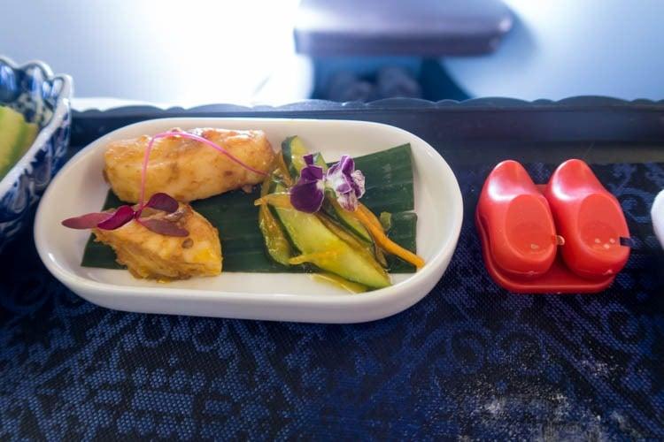 KLM Business Class Dinner Appetizer