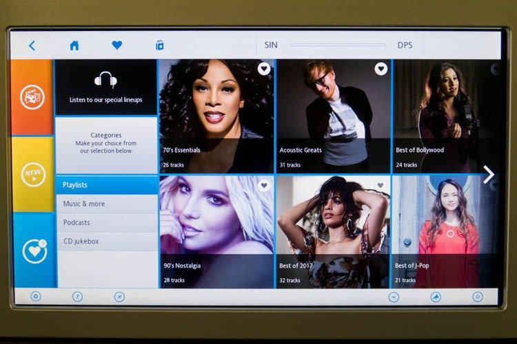 KLM In-Flight Entertainment System Playlists