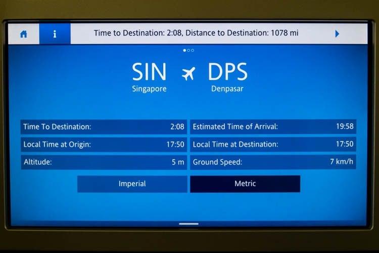 KLM In-Flight Entertainment System Flight Information