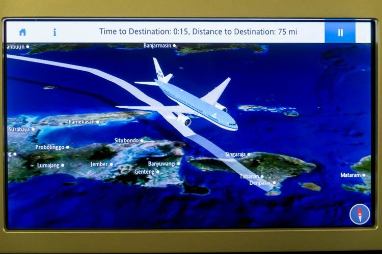 KLM In-Flight Entertainment System Moving Map