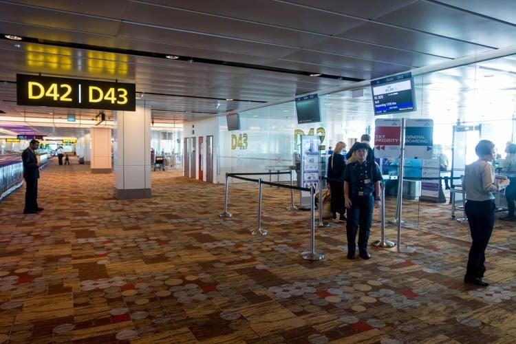 Singapore Changi Airport Gate D42