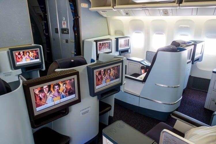 KLM Boeing 777-200ER Business Class Cabin