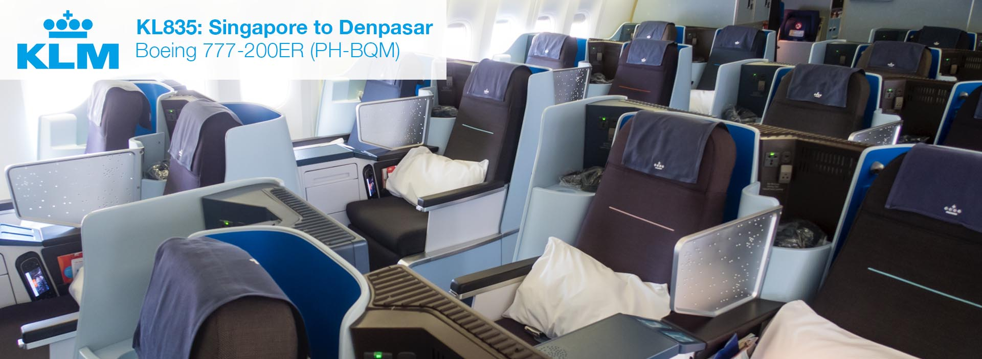 Review: KLM 777-200ER Business Class from Singapore to Denpasar