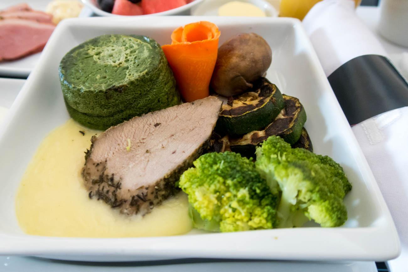 LOT Business Class Pre-Landing Meal