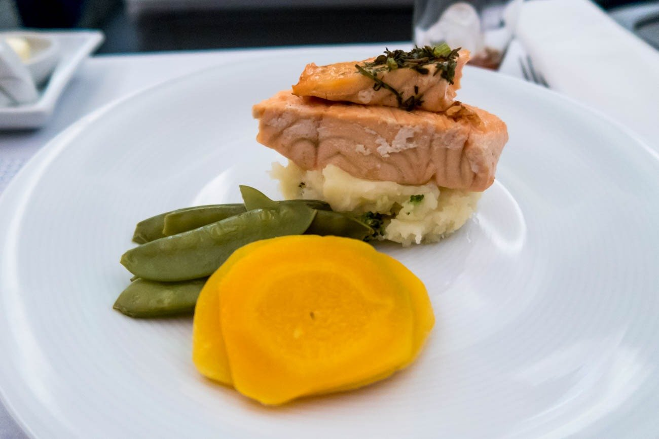LOT Polish Airlines Business Class Dinner
