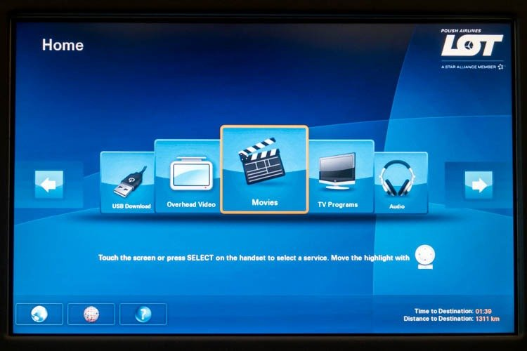 LOT 787-8 In-Flight Entertainment System