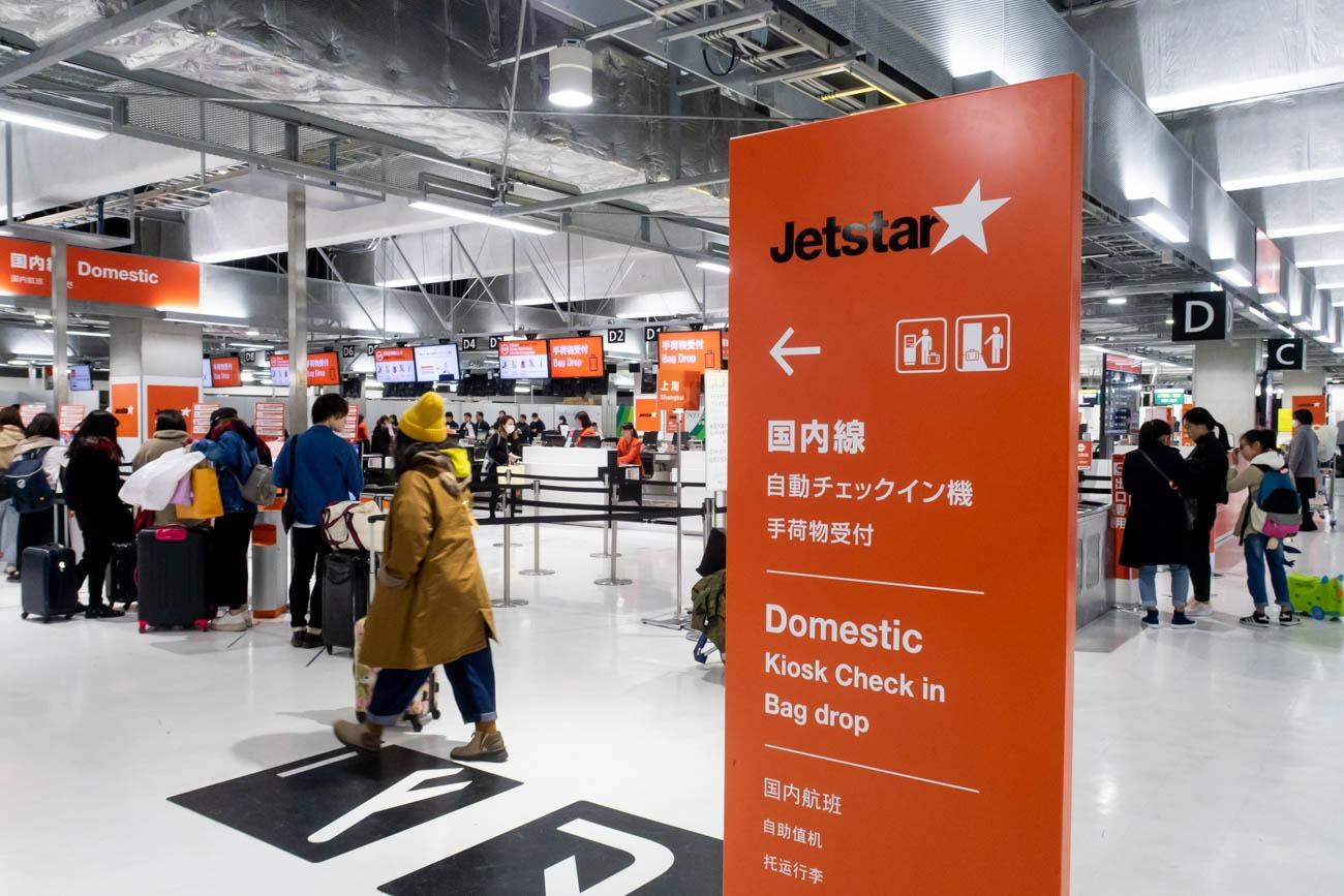 Jetstar Check-in Counters at Narita Airport