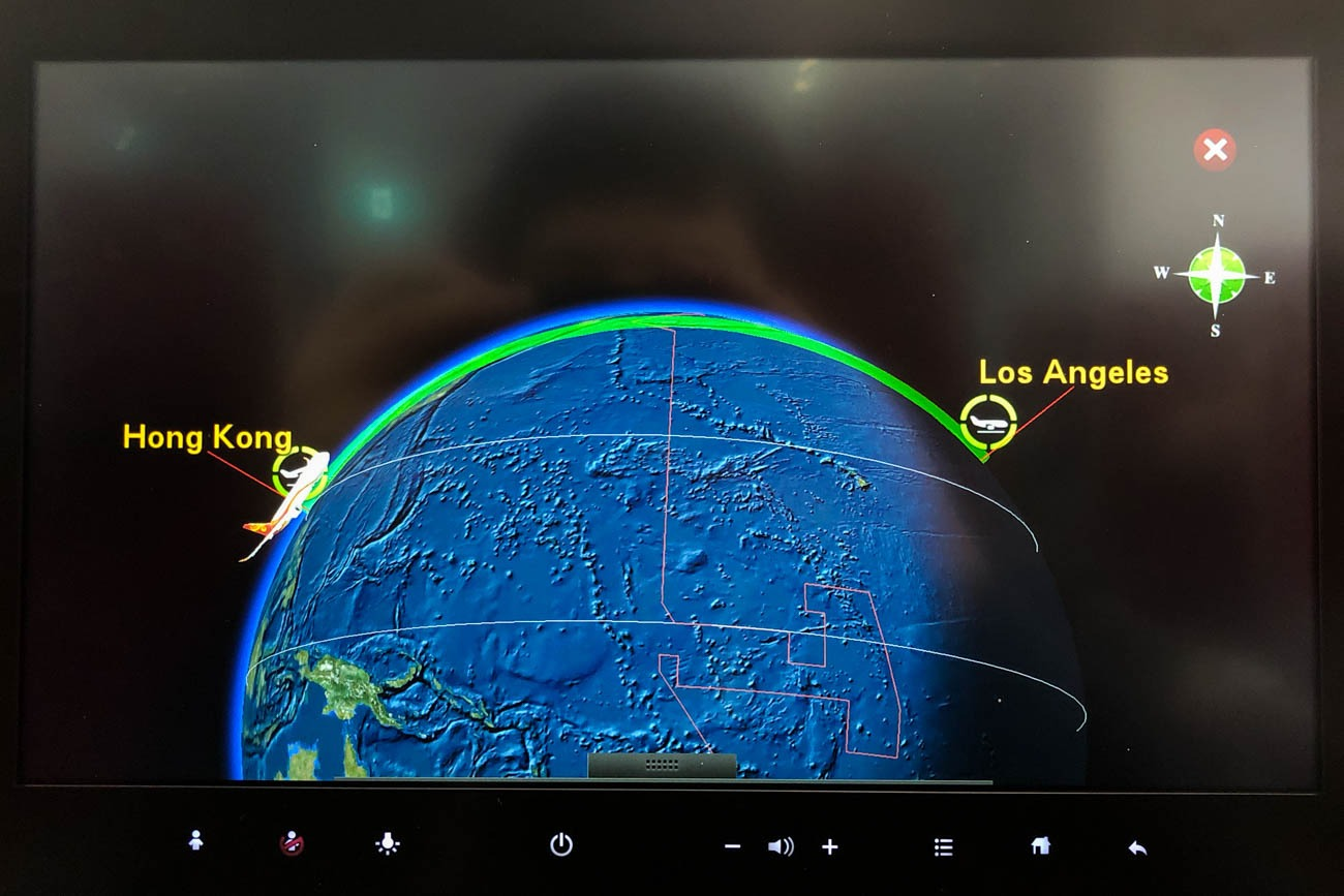 Hong Kong Airlines Flight 68 from Hong Kong to Los Angeles