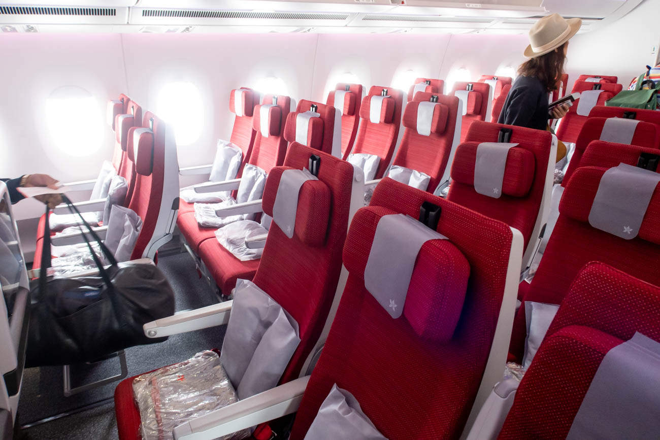 Hong Kong Airlines Airbus A350-900 Economy Class Seats