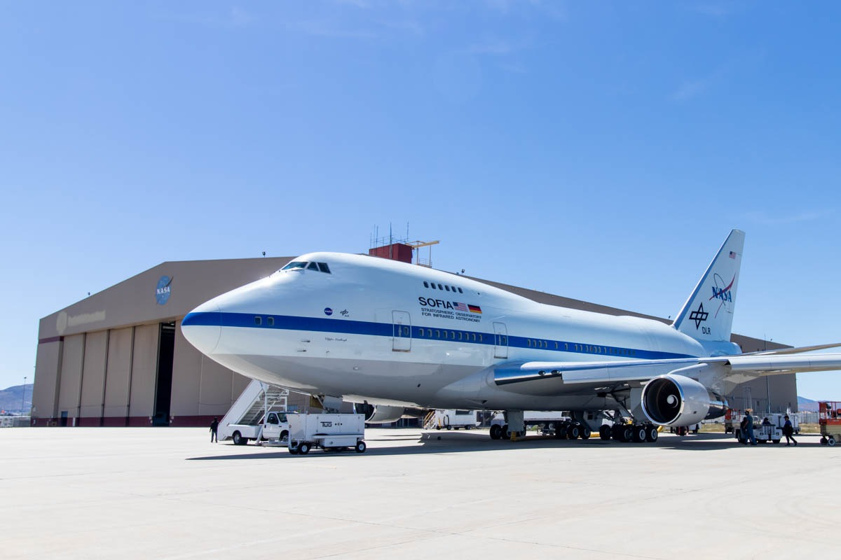 NASA Armstrong Flight Research Center Building 703 Boeing 747SP Airborne Observatory (SOFIA)