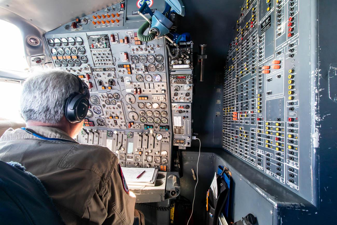 NASA DC-8 Cockpit - Flight Engineer
