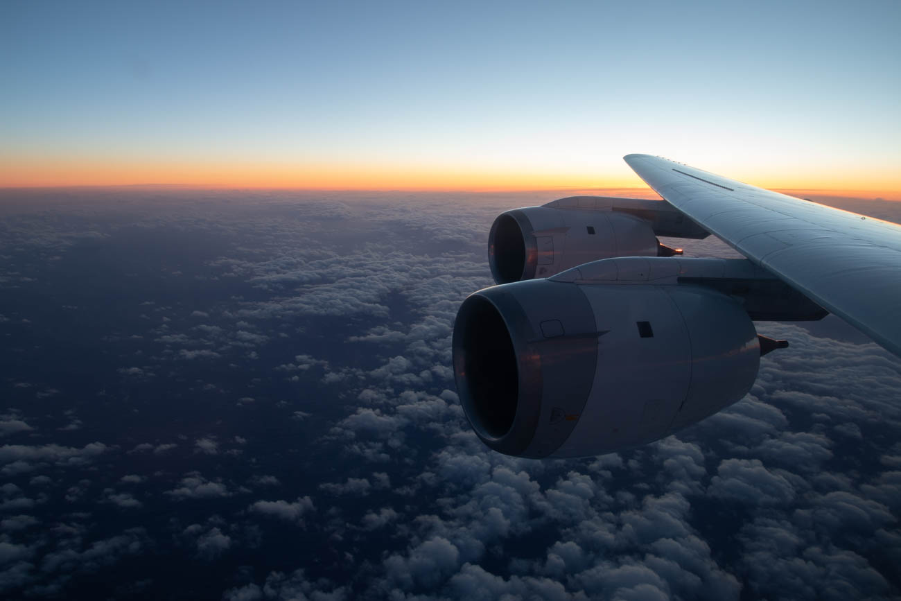 Watching Sunset Onboard NASA DC-8